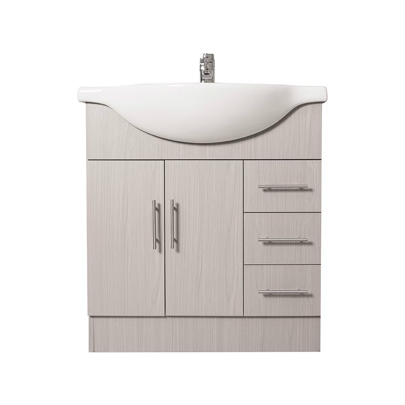 75cm Grey Bathroom Unit & Basin - Right Price Tiles